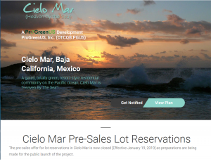 Cielo Mar Pre-Sales Lot Reservation Offer Now Closed